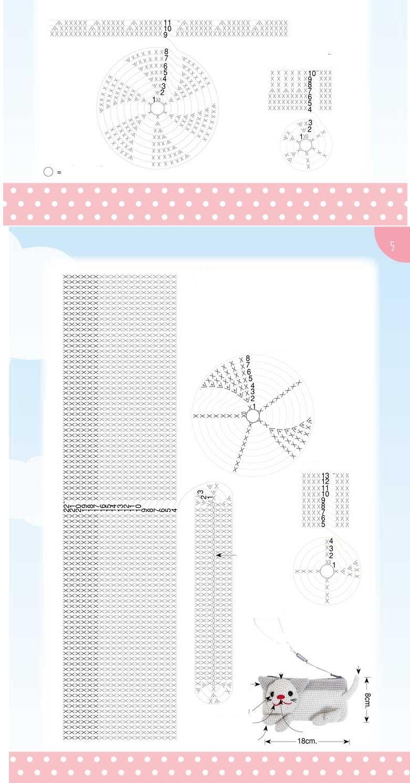 Patron Crochet Bolsito Gato - Patrones Crochet | Proyectos que debo ...