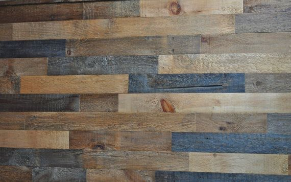 Reclaimed Wood Wall Do It Yourself DYI by EastCoastRustic available for purchase.  These are not pallet wood but barn wood.