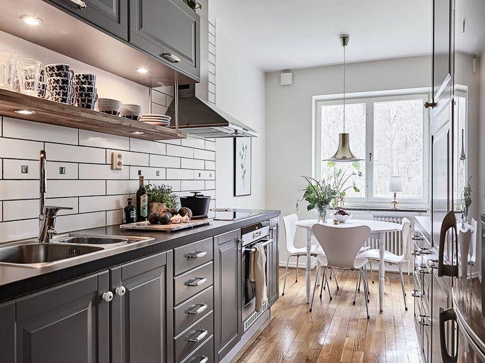 DECO Cocina Gris en un piso de estilo nórdico | With Or Without ...