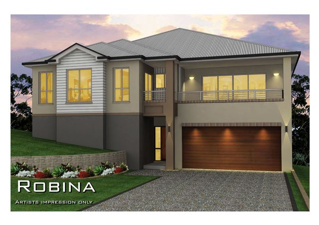 Tullipan home designs the robina split level visit www for New split level homes