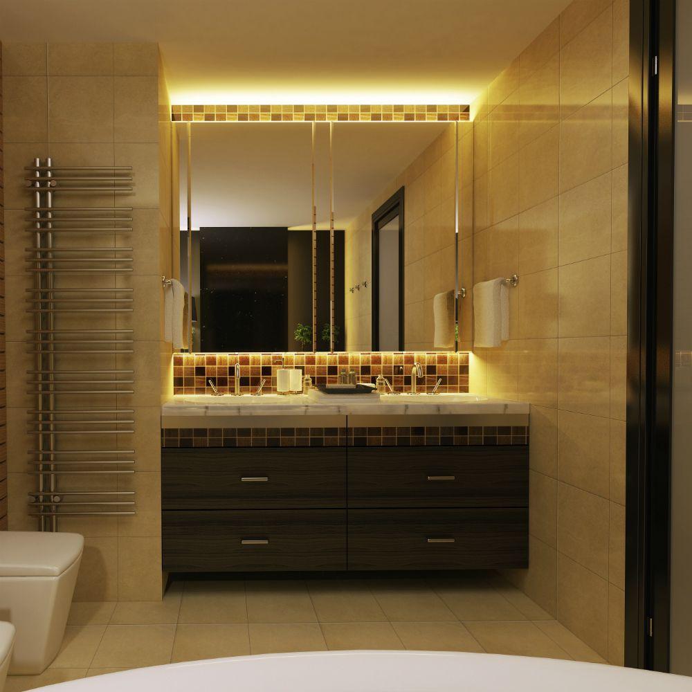 strip led kit ruban led salle de bain blanc chaud l3m lumihome salle de bain pinterest. Black Bedroom Furniture Sets. Home Design Ideas