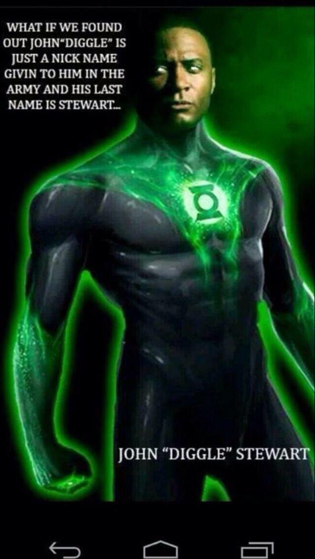 John Diggle from Arrow as Green Lantern