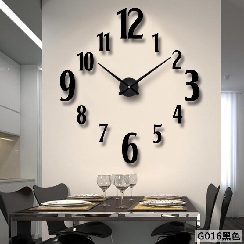 3d Wall Clock Modern Design Large Size Diy Clocks Living Room Creative Stickers Acrylic Metal Mirro Wall Clocks Living Room Mirror Wall Clock Wall Clock Modern