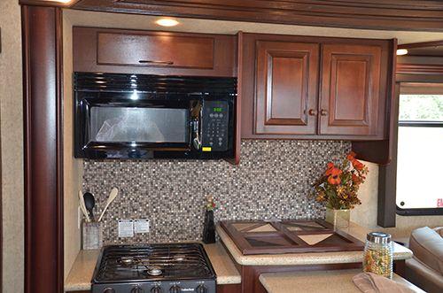 Heartland Cyclone 4000FW 2013 Interior Kitchen | Kitchen ...