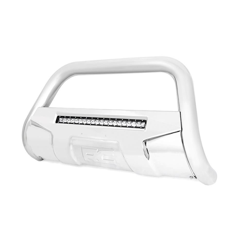 Rough Country Stainless Steel Bull Bar With Led Light Bar For The Ford F 150 2010 Ford Expedition Bull Bar Bar Lighting 2012 Ford Expedition