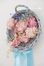 Wicker Love and A Floral Peony Wreath Project