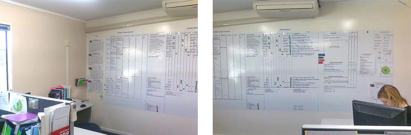 A Useful Large Scale Magnetic Whiteboard Wall Created With Resene Magic And Write