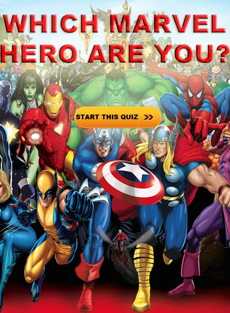 Ever wonder what Marvel Hero suits you best? Take the quiz and find out!