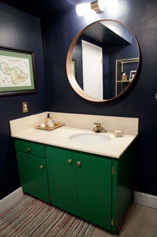 green bathroom vanity remodelaholic favorites in 2019 bathroom rh pinterest com mint green and navy bathroom navy and lime green bathroom