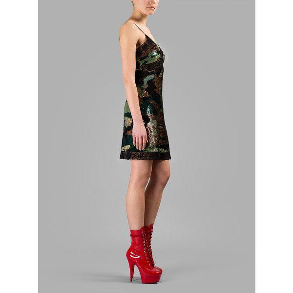 46c0570fc42b Ashish Dresses ($2,025) ❤ liked on Polyvore featuring dresses, green, green  slip