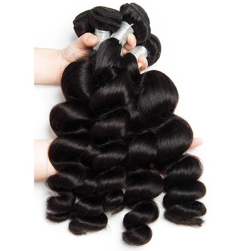 China Factory Best Seller Loose Wave Human Hair Bundles Peruvian Virgin Hair Natural Color Hair Weaves Ha Peruvian Hair Bundles Weave Hairstyles Hair Bundles