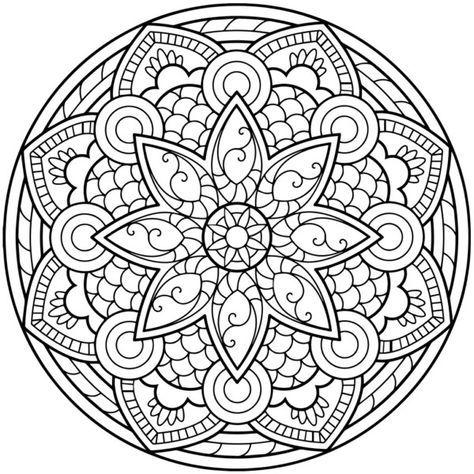 190 Mandalas para Colorear para niños   images   Mandala coloring