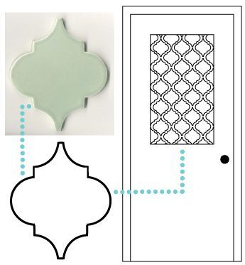 image about Printable Contact Paper identified as Spectacular Moroccan phony frosted gl window masking built