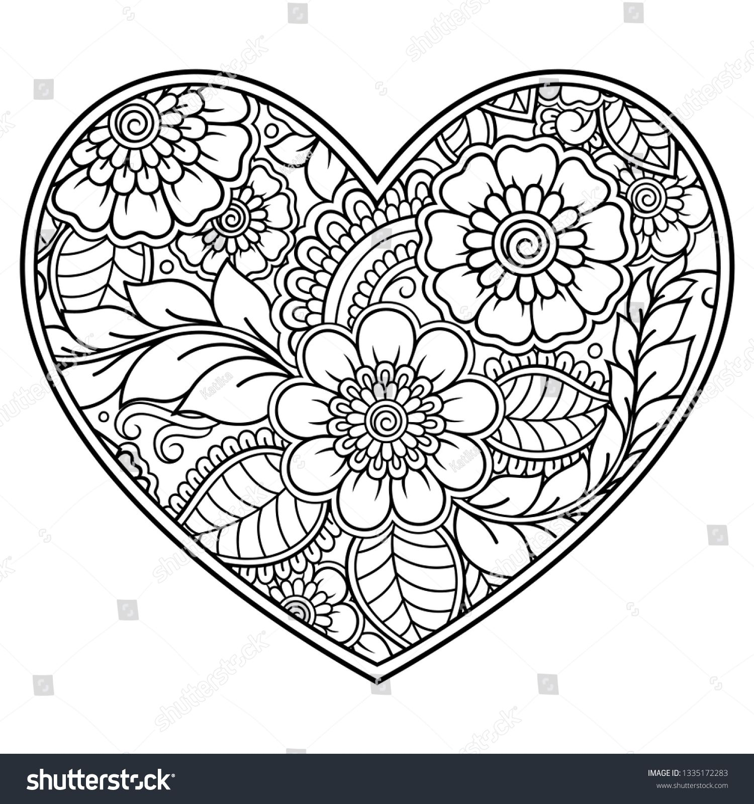 Pin Na Doske Heart Coloring Pages