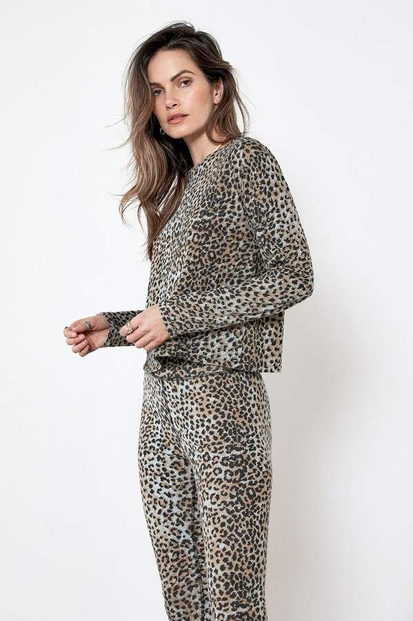 f81a83e924200f LONG SLEEVE TEE Blue Leopard in 2019 | Products