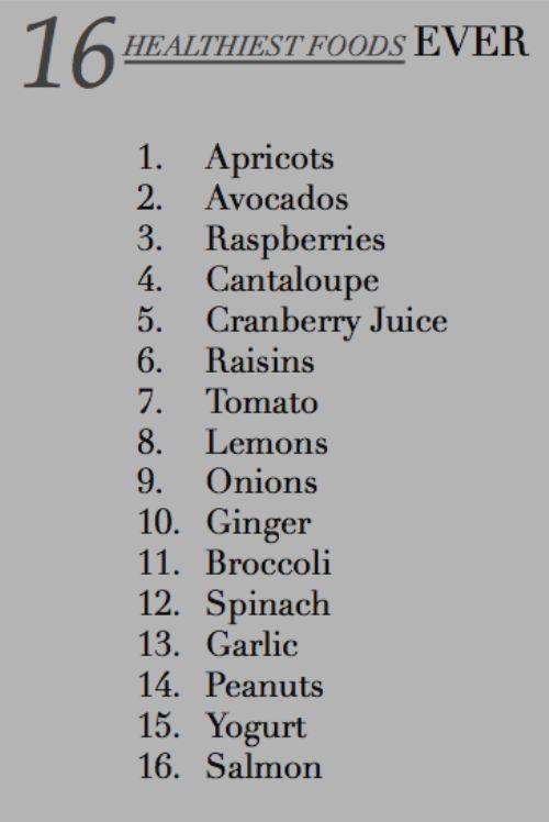 16 Of The Healthiest Foods Habitos Saludables Resetas Saludables Lista De Alimentos