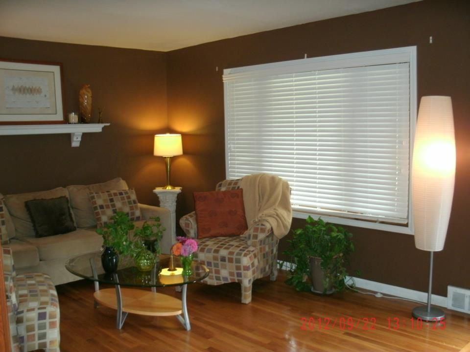 real customer photos fauxwood blinds for a cozy living room cozy