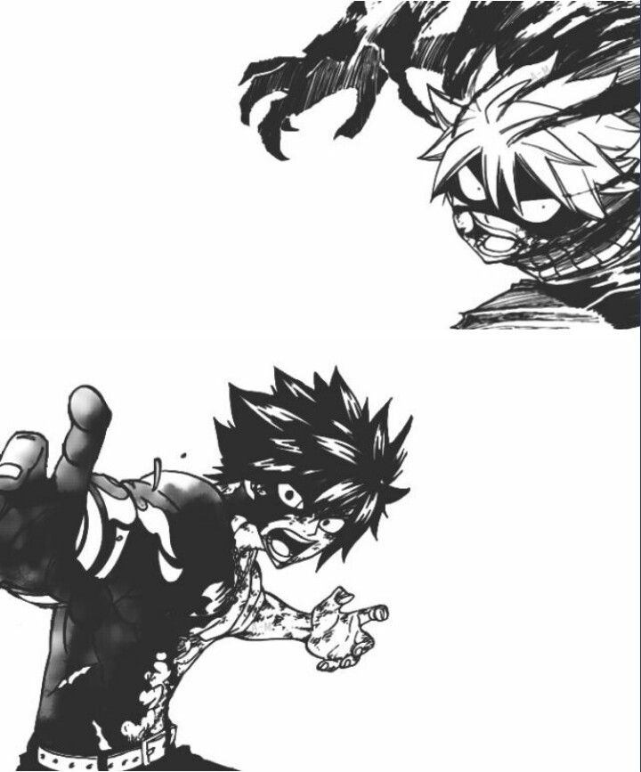 Natsu fighting Gray // chapter 504 // brb while I cry