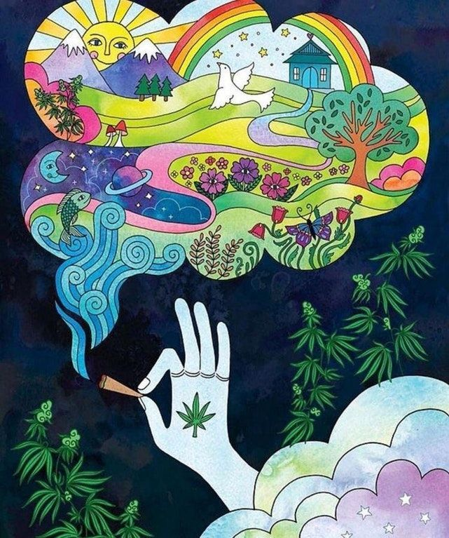 Blissed out • r/trees Supertramp Dibujos psicodélicos