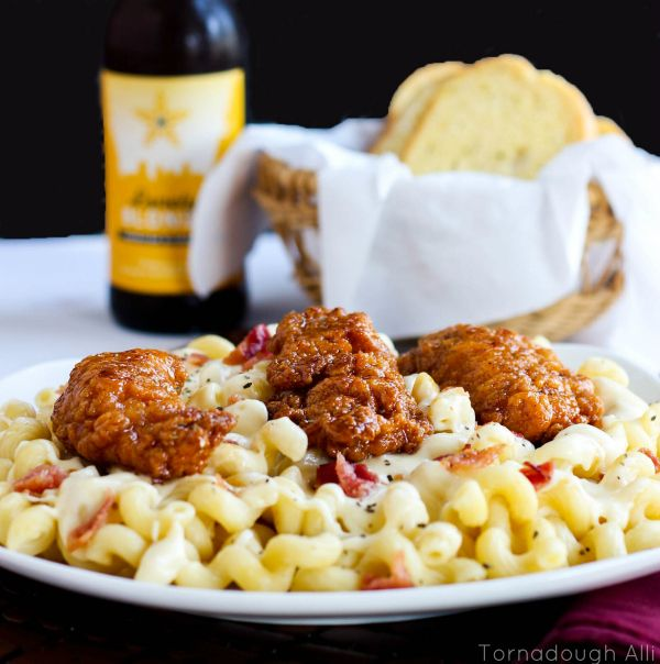 Honey Pepper Chicken Mac And Cheese