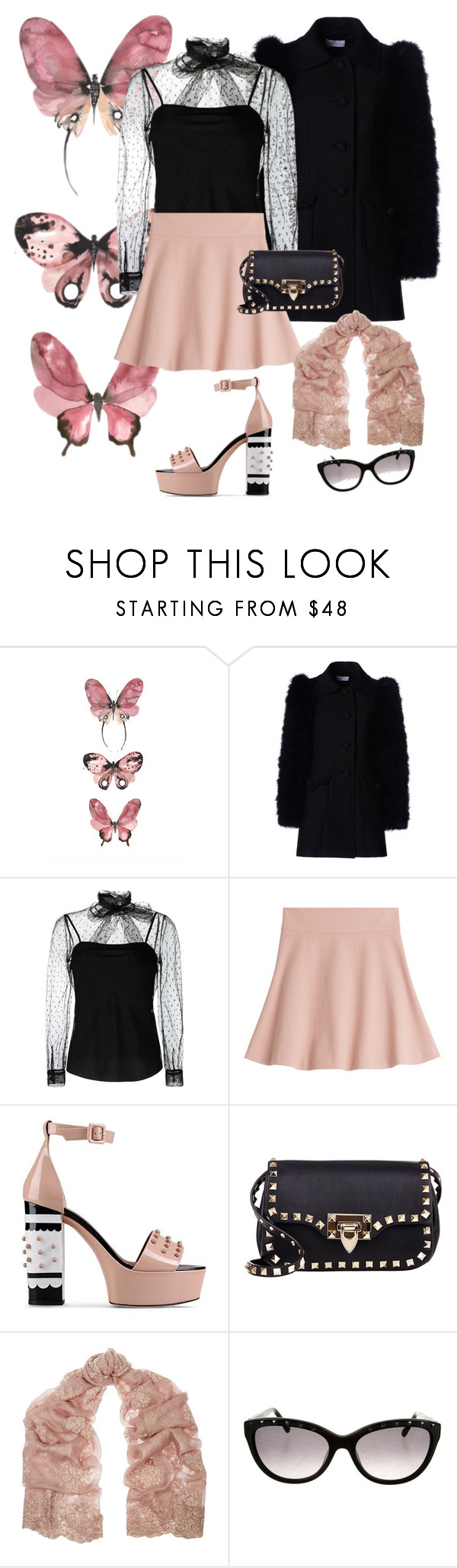 """""""Valley Girl. #gagmewithaspoon"""" by denibrad ❤ liked on Polyvore featuring RED Valentino and Valentino"""