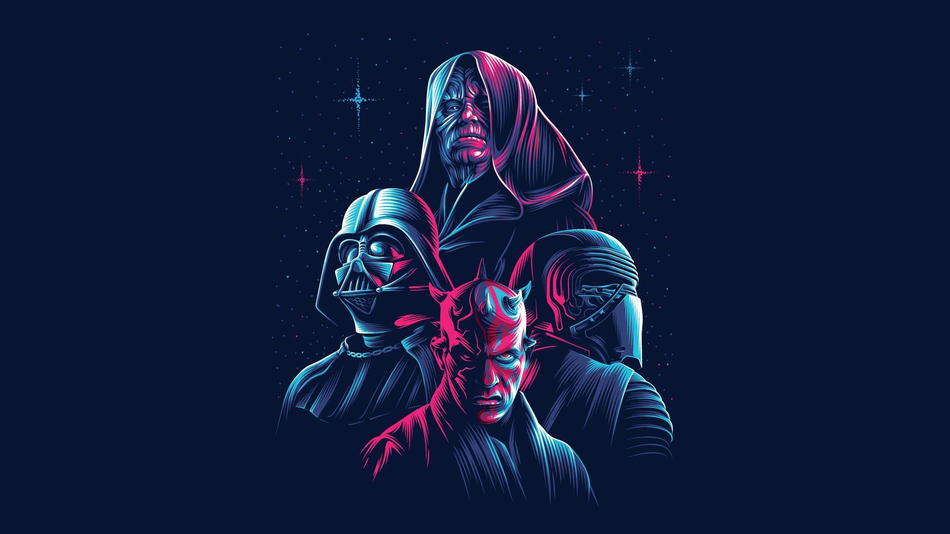 Star Wars Dark Side 1920x1080 Full Credits To U Theamitytyr Star Wars Background Star Wars Wallpaper Dark Side Star Wars