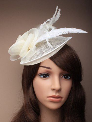 Fascinator Hatinator Large on Slim Aliceband Hat Wedding Races Ascot Fashion