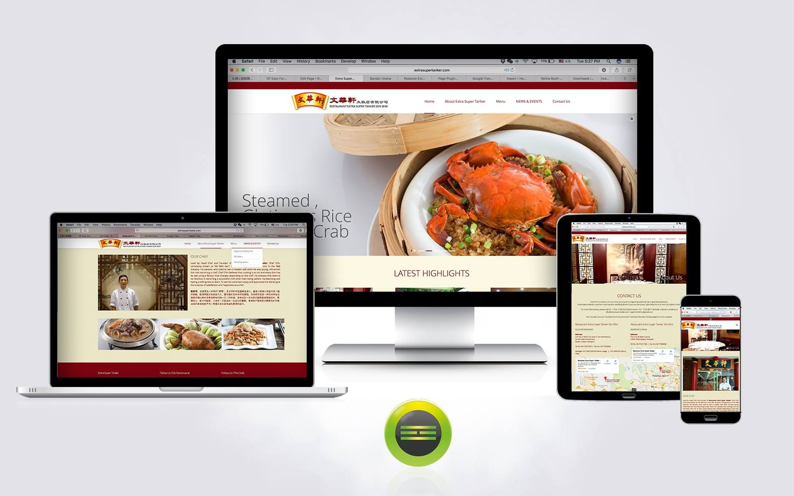 One Of The Recent Project Completed For Client Extrasupertanker Com Chinese Restaurant In Malays Web Development Design Design Development Chinese Restaurant