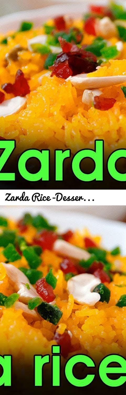 Zarda Rice -Dessert Recipe || Eid Special || Zarda Pulao ...