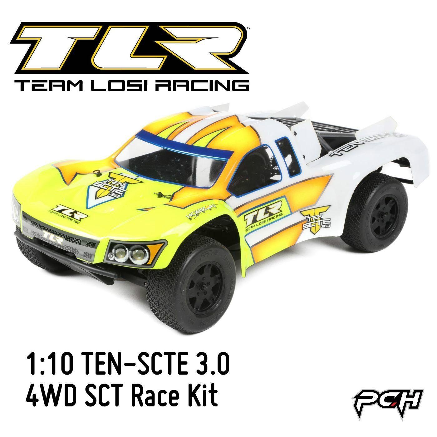 TLR 1 10 TEN SCTE 3 0 4WD SCT Electric RC Short Course Truck Race