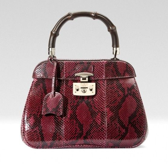 8aa529aad5 Handbag in pitone rosso Gucci | Style | Couture bags, Cheap handbags ...