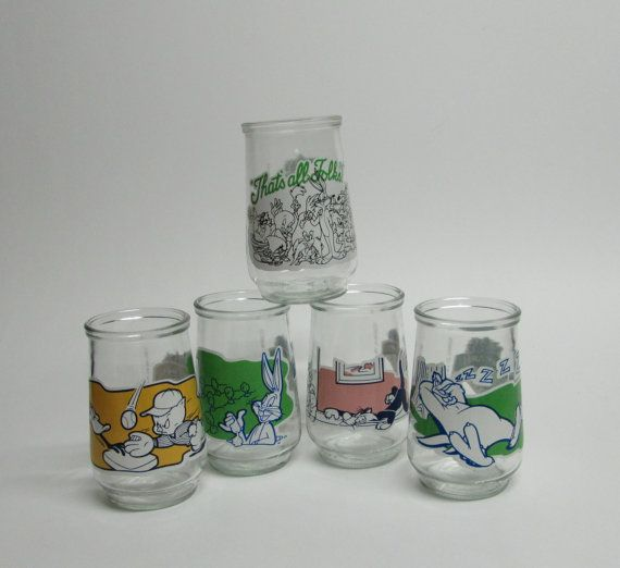 Vintage Juice Glass Welch/'s Jelly Jar Glass Child/'s Juice Glass Collectible Glass Promotional Glass
