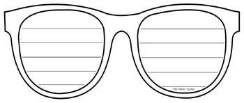 Sunglasses Writing Template | Writing, Templates, Cute writing