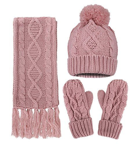 0b0cb7d3ff3 winter leggings for women. ANDORRA - 3 in 1 - Soft Warm Thick Cable Hat  Scarf  amp  Glov.