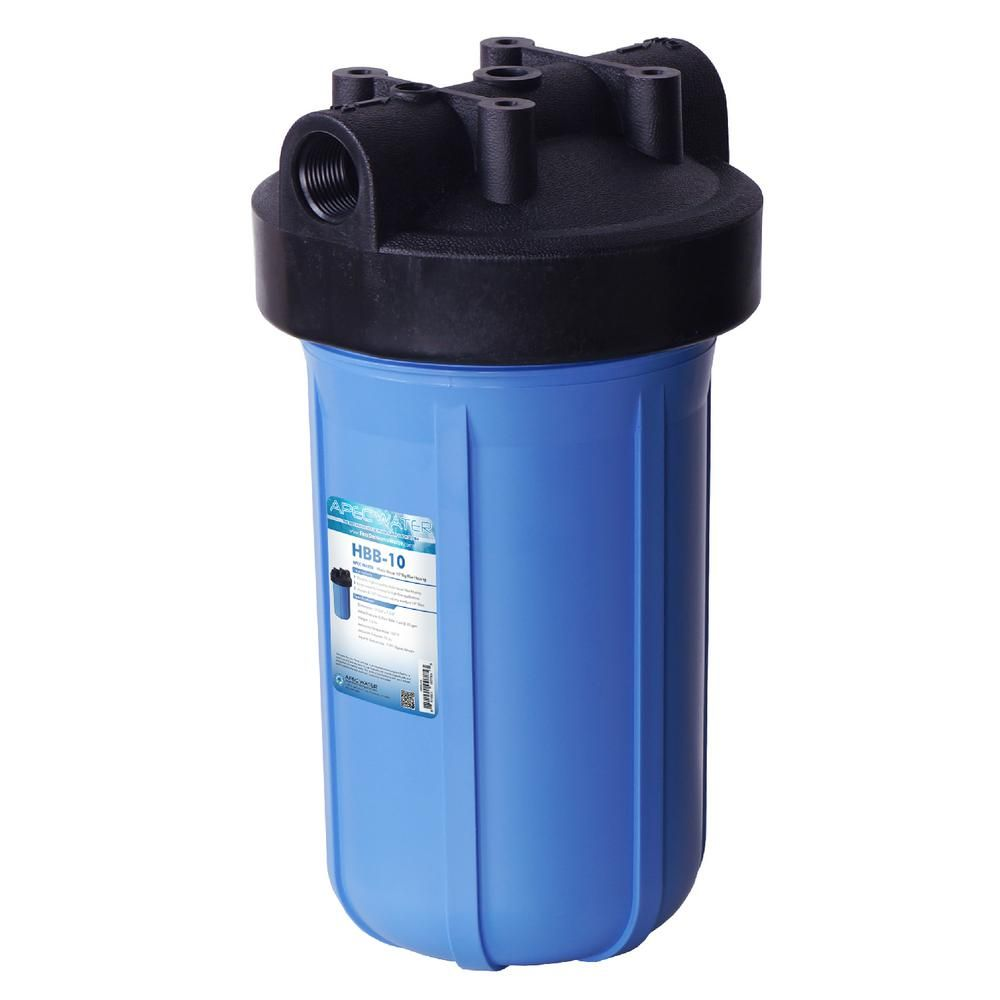 Apec Water Systems 10 In Big Blue Housing For Basic Whole House Water Filter System Whole House Water Filter House Water Filter Water Filter