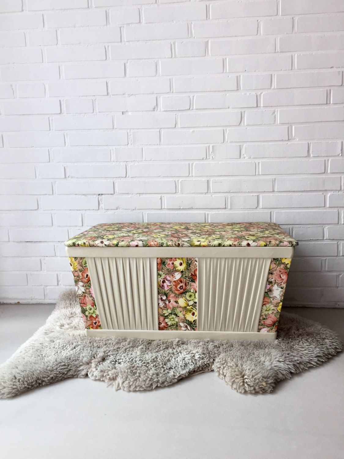 Wäschekorb Vintage Vintage Linen Box Chest Box Storage Rockabilly Old