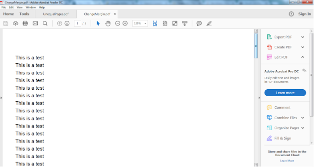 Itext 5 Pdf How To Change Margin Using Document Setpagesize Java Tutorial Pdf Change