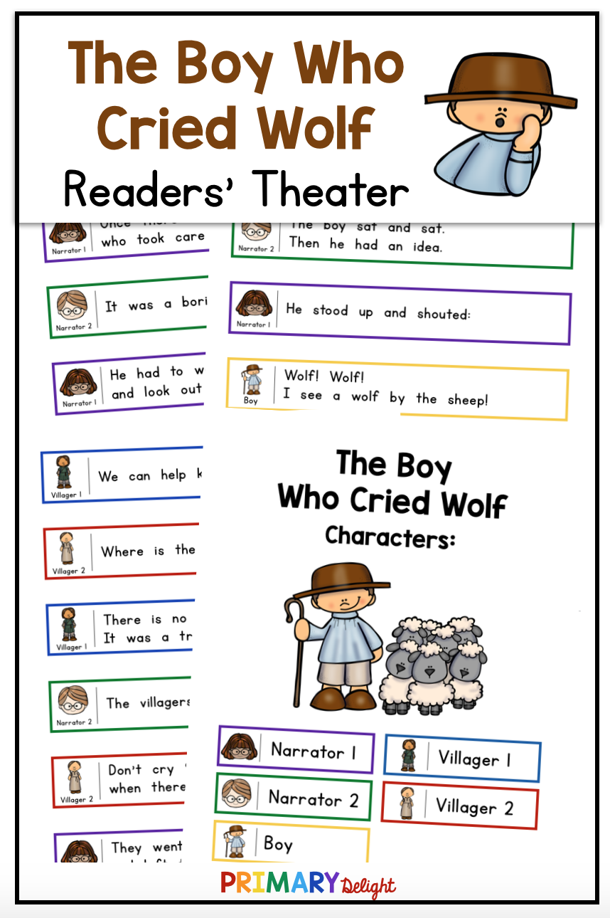 The Boy Who Cried Wolf Readers Theater Readers Theater First Grade Reading Classroom Plays [ 1290 x 858 Pixel ]