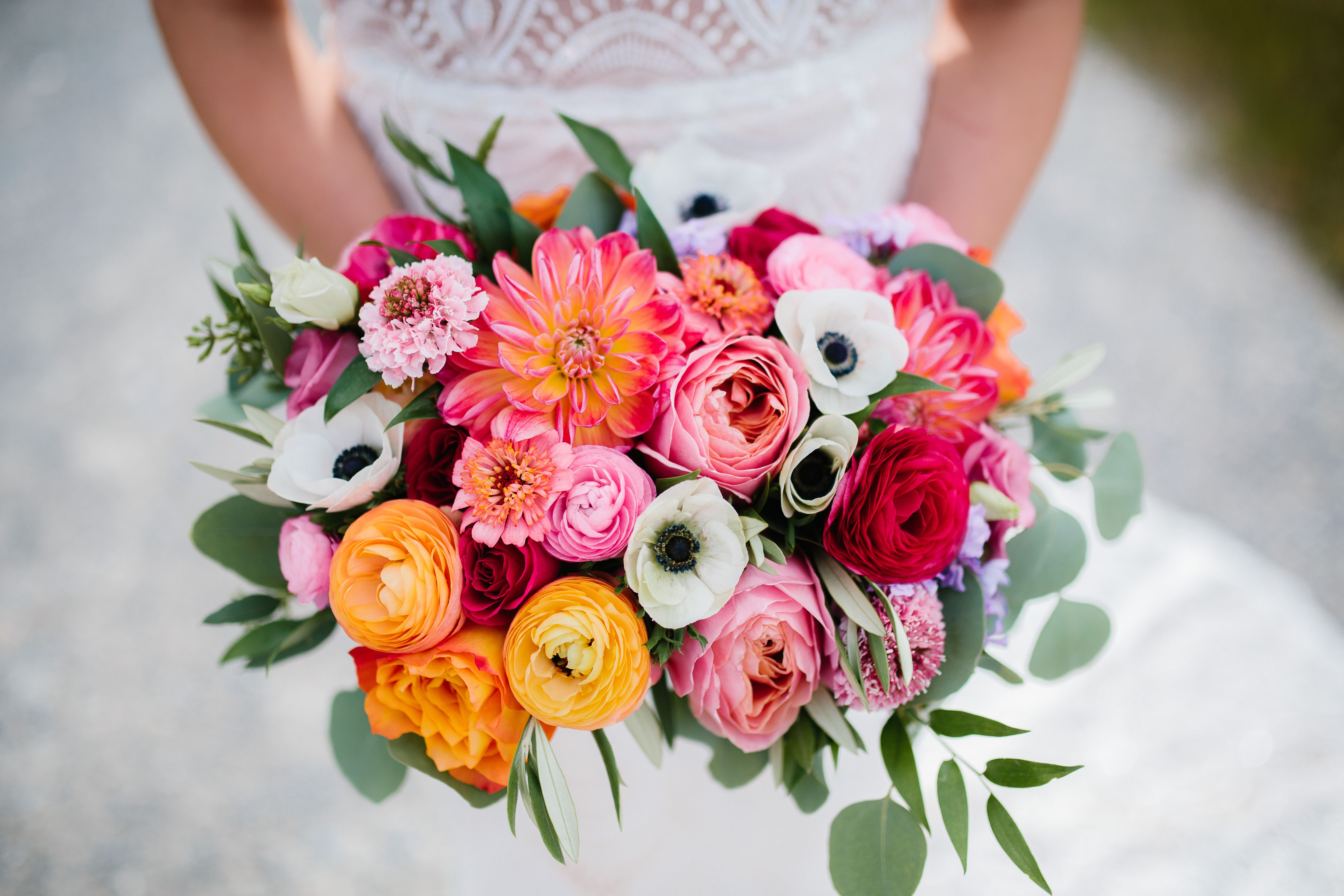 This summer bridal bouquet for a Canmore, Alberta wedding