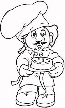Aşçı Boyama Sayfası Ilk Okul Pinterest Coloring Pages