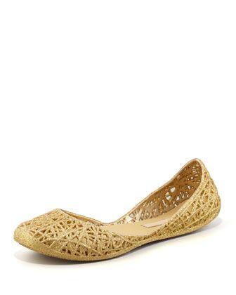 Jelly flats, Melissa shoes, Glitter jelly