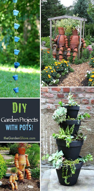Clay Pot Crafts for Your Garden   outdoors   Garden projects, Garden