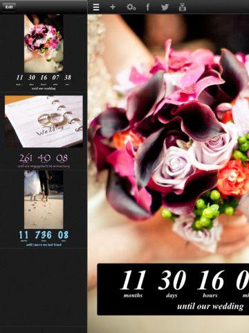 Wedding Countdown Wedding Countdown Wedding Apps Wedding Event Planner
