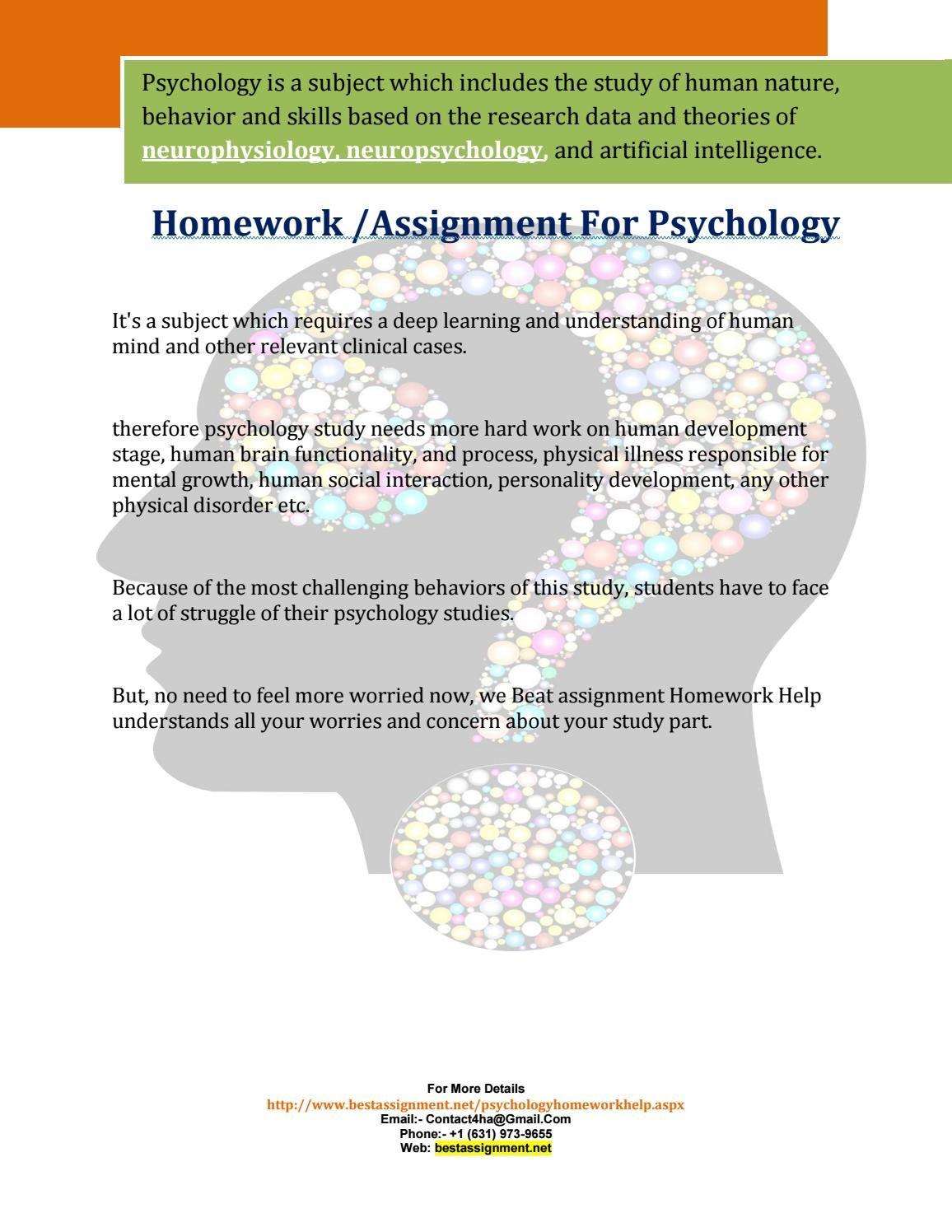 psychology homework help
