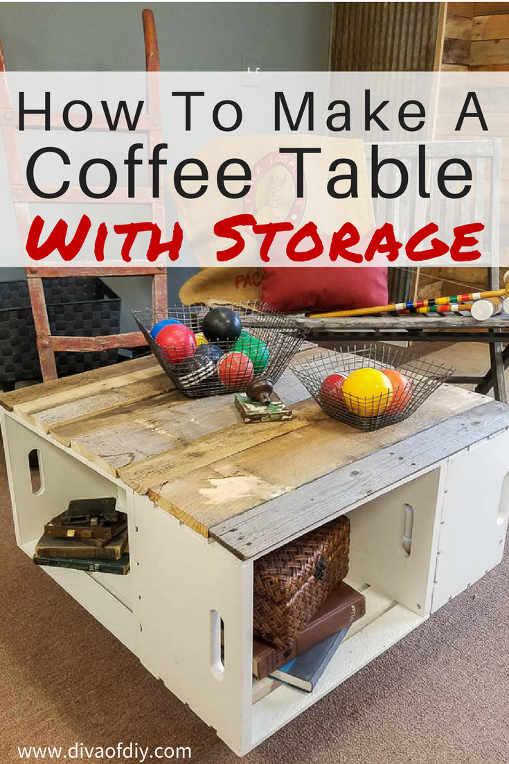 Diy home decor coffee table with storage coffee table storage diy home decor coffee table with storage geotapseo Choice Image