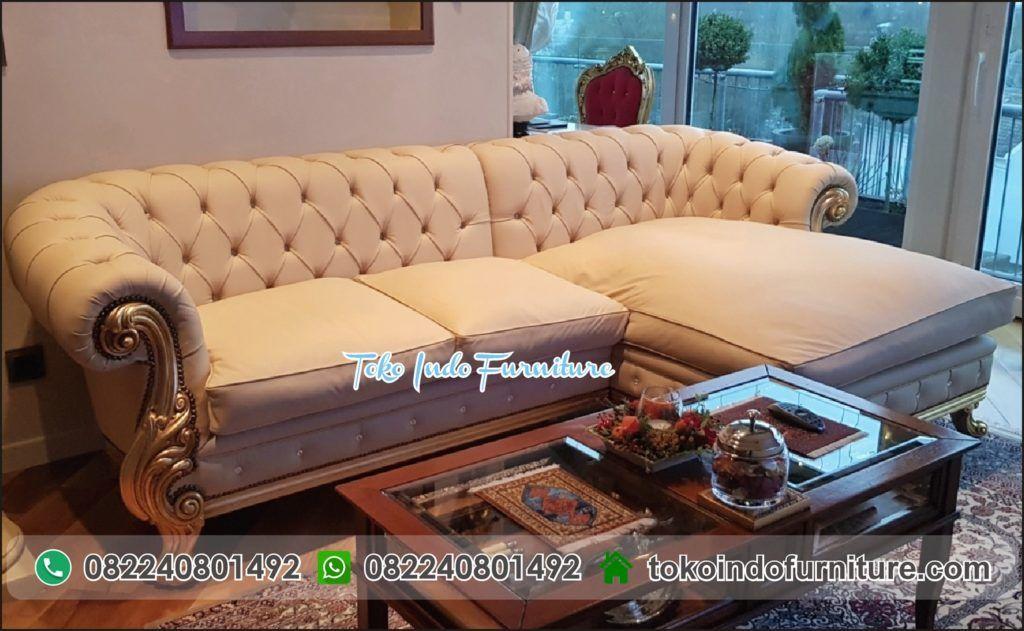 Kursi Tamu Sofa Corner Mewah Mebel Sofa Kursi