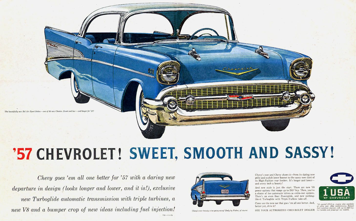Chevy Bel Air Vintage Ad  Old Car Ads Home  Old Car Brochures