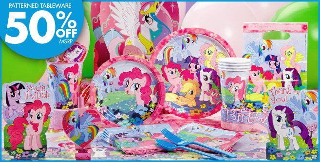 My Little Pony Party Supplies Basic Party Kit Party City Little