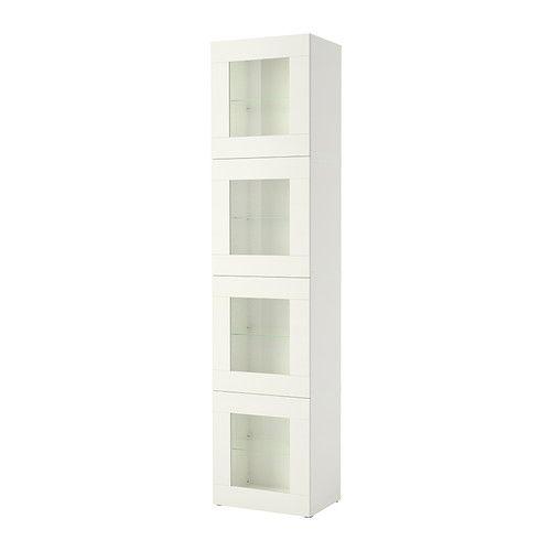 Best Storage Combination With Glass Door Vara White 60x40x256 Cm