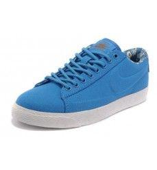 website for discount cheap sale size 40 Nike blazers low femme trainers vt toile bleu royal soldes ...